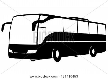 Stylized Vector image of a modern bus.