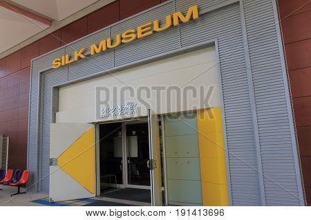 YOKOHAMA JAPAN - MAY 28, 2017: Silk museum Yokohama. Silk museum displays silk kimonos and covers the importance of Yokohama as a silk port.
