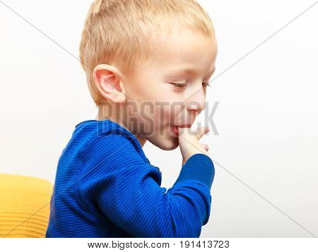 Boy Licking Something Good From Fingers