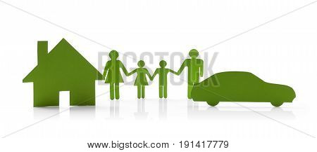 concept of standard family values. isolated on white