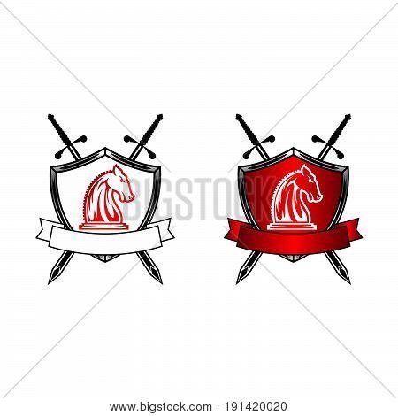 horse badges emblems equestrian vector illustration elegant