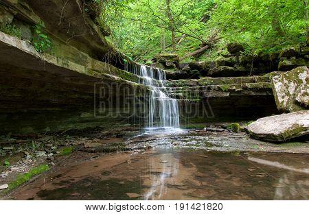 A waterfall in the Jessamine Creek Gorge in Kentucky.
