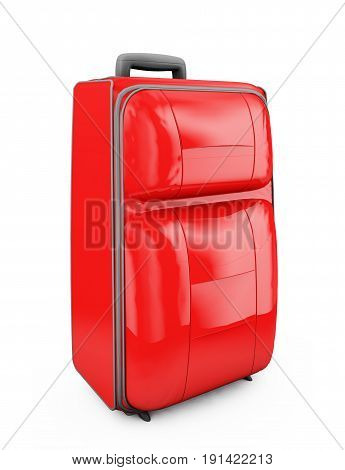 Suitcase isolated on a white background. 3d render