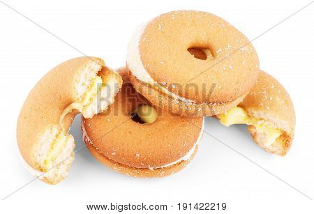sweet cookie with coconut isolated Indulgence, Chip, Crumbs
