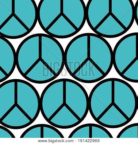 peace symbol isolated pattern vector illustration design