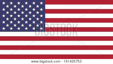 Flag of the United States. 50 stars and 13 stripes. Vector, eps 10