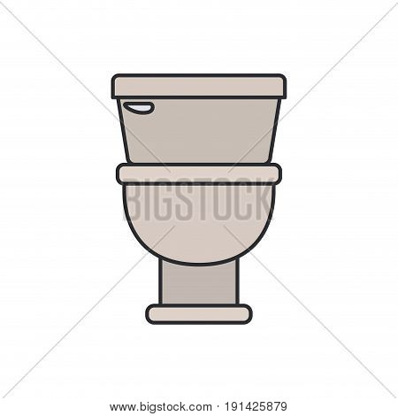color image of toilet icon in front view vector illustration