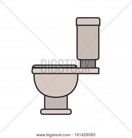 color image of toilet icon side view vector illustration