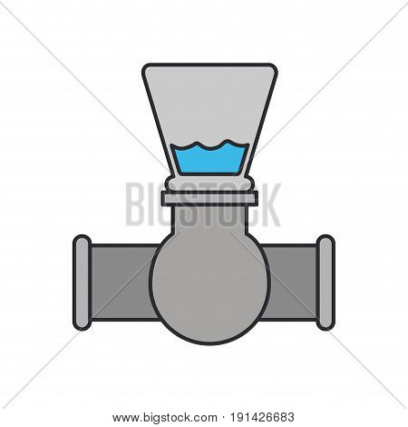 color image of stopcock icon vector illustration