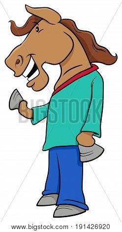 Horse Character Cartoon