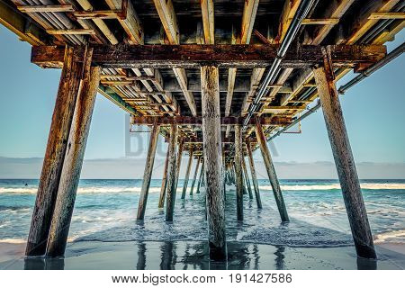 A June day under the pier at Imperial Beach California.