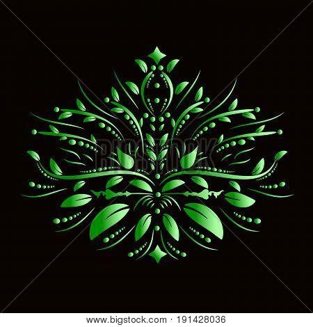 Hand drawing, green leaf for your creativity, vector
