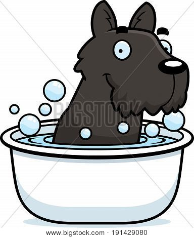 Cartoon Scottie Bath