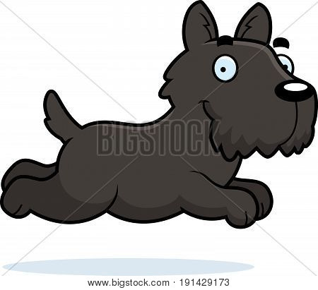 Cartoon Scottie Running