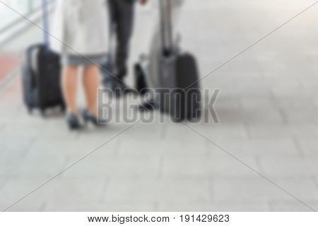 Business Blurred Background Concept: Commuting to Work