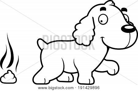 Cartoon Cocker Spaniel Poop
