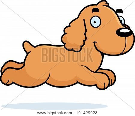 Cartoon Cocker Spaniel Running