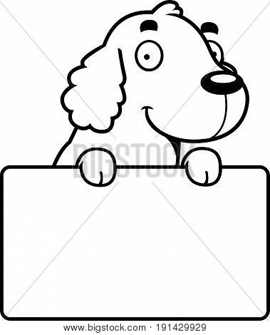 Cartoon Cocker Spaniel Sign