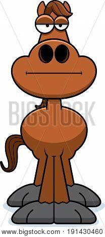Cartoon Horse Bored