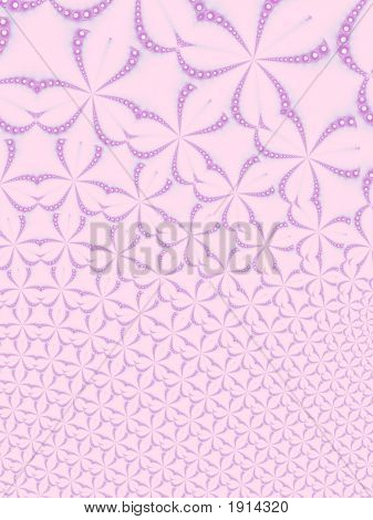 Pink Floral Fractal Background