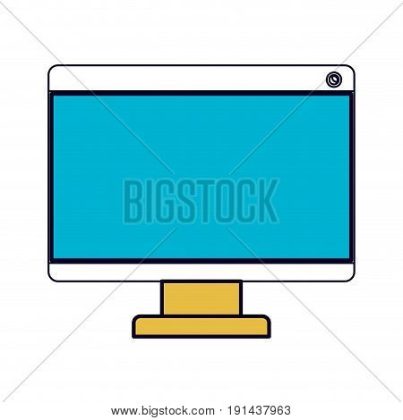 white background with color sections silhouette of lcd monitor vector illustration