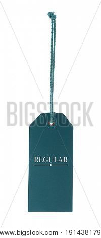 Regular Price Tag Isolated
