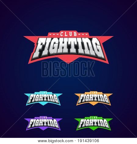 Fight Club Emblem. Mixed Martial Arts Sport Logo On Dark Background