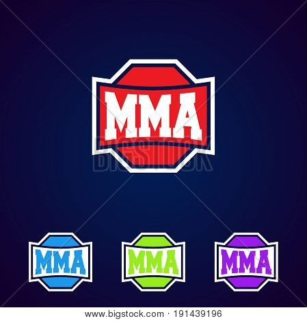 Mma. Modern Professional Mixed Martial Arts Template Logo Design.
