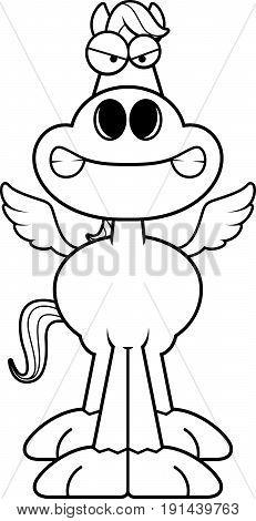 Angry Cartoon Pegasus