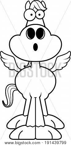 Surprised Cartoon Pegasus