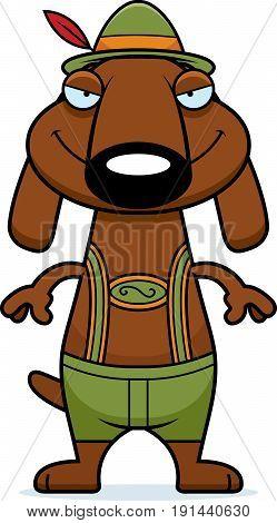 Sly Cartoon Dachshund Lederhosen