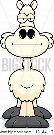 Cartoon Llama Bored