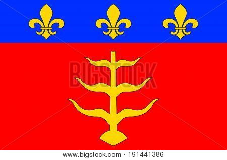 Flag of Montauban is a commune in the Tarn-et-Garonne department in the Occitanie region in southern France. Vector illustration