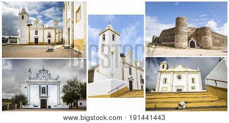 several Monuments in Veiros town, Estremoz, Portugal