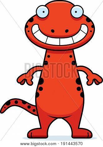 Happy Cartoon Salamander