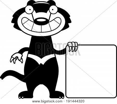 Cartoon Tasmanian Devil Sign