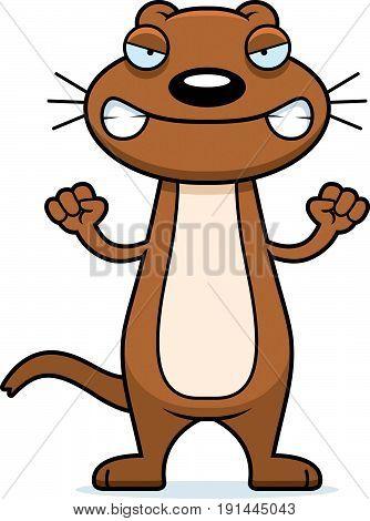 Angry Cartoon Weasel