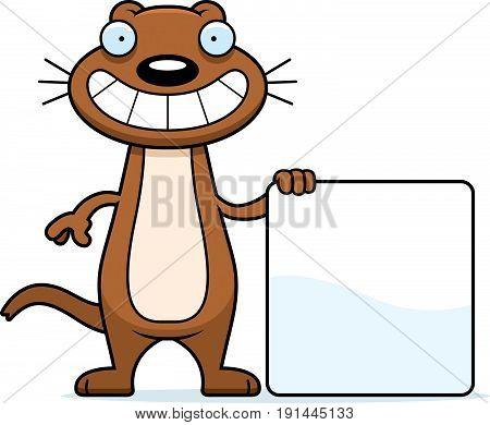 Cartoon Weasel Sign