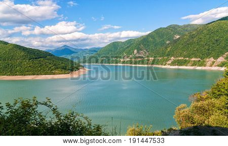 Jinvali reservoir. Dusheti region.  Republic of Georgia