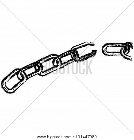 chain break isolated icon vector illustration design