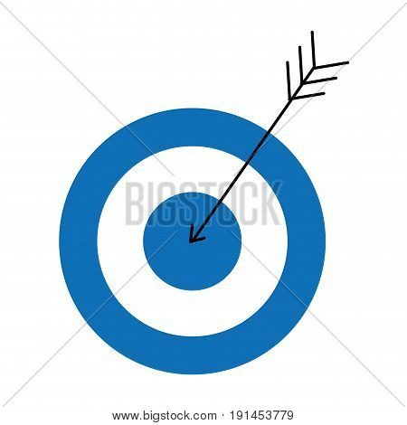 target with arrow icon vector illustration design