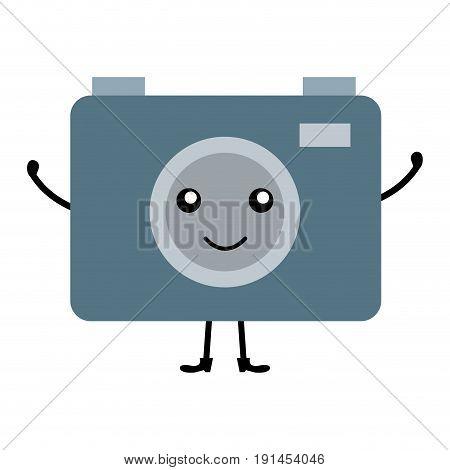camera photographic kawaii character vector illustration design
