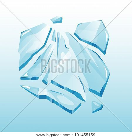 Isolated ice cap snowdrift and icicle element winter decor vector. Snowy element on blue background. Ice in cartoon style for your design
