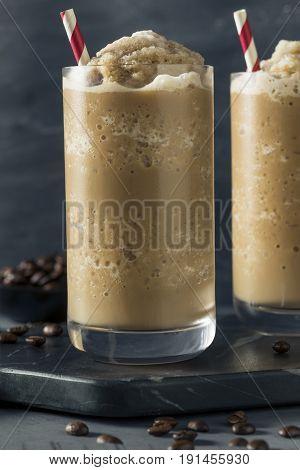 Sweet Frozen Iced Coffee Slushie