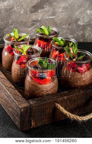 Chocolate Pudding With Chia Seeds