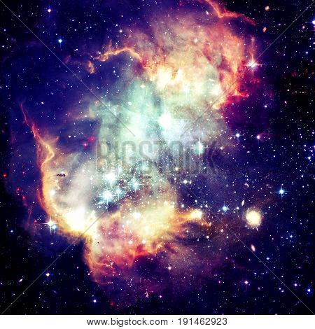 View Of The Galaxy With Nebula And Stars.