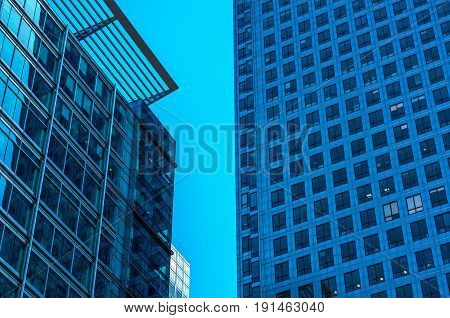 Modern Business Skyscrapers, High Glass Buildings, Modern Architecture, Commercial Buildings