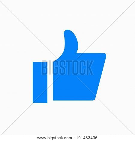 Vector modern thumbs up icon on white background