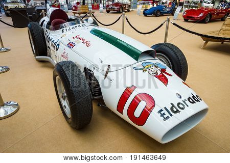 STUTTGART GERMANY - MARCH 02 2017: Racing car Maserati 420M Eldorado 1958. Europe's greatest classic car exhibition