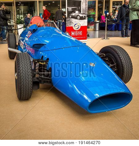 STUTTGART GERMANY - MARCH 02 2017: Sports racing car Stanguellini Formula Junior 1958. Europe's greatest classic car exhibition